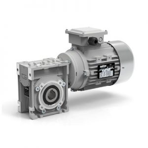 Electric motor with gearbox for meat grinder